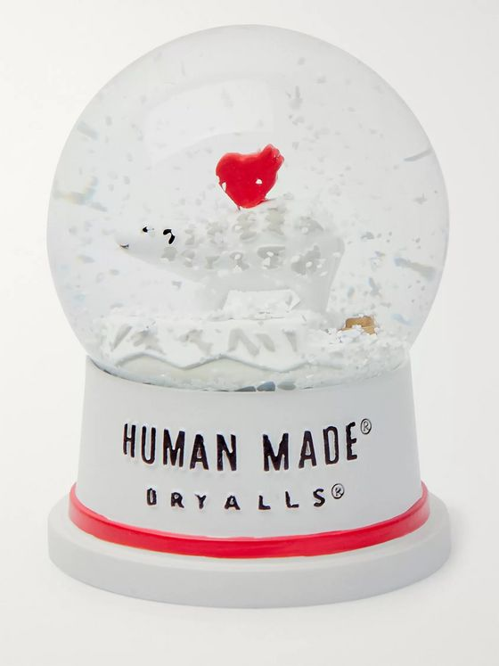 Human Made Glass and Ceramic Snow Globe