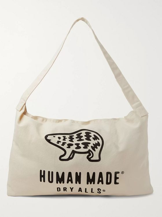 Human Made Logo-Print Cotton-Canvas Tote Bag