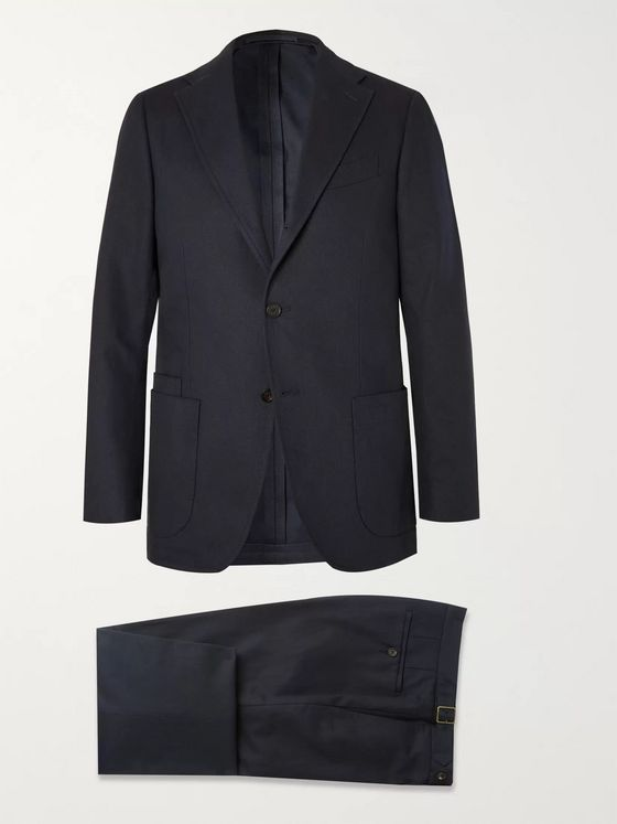 Aimé Leon Dore + Drake's Navy Cavalry Cotton-Twill Suit