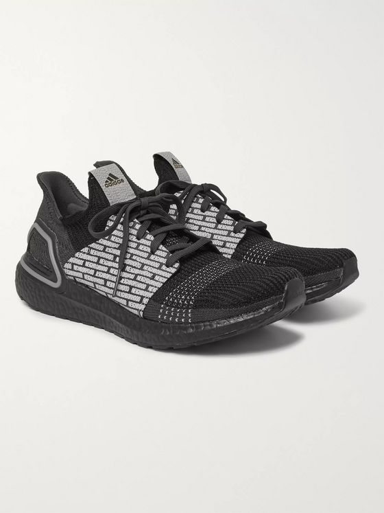 adidas Consortium + Neighborhood UltraBOOST 19 Rubber-Trimmed Primeknit Sneakers