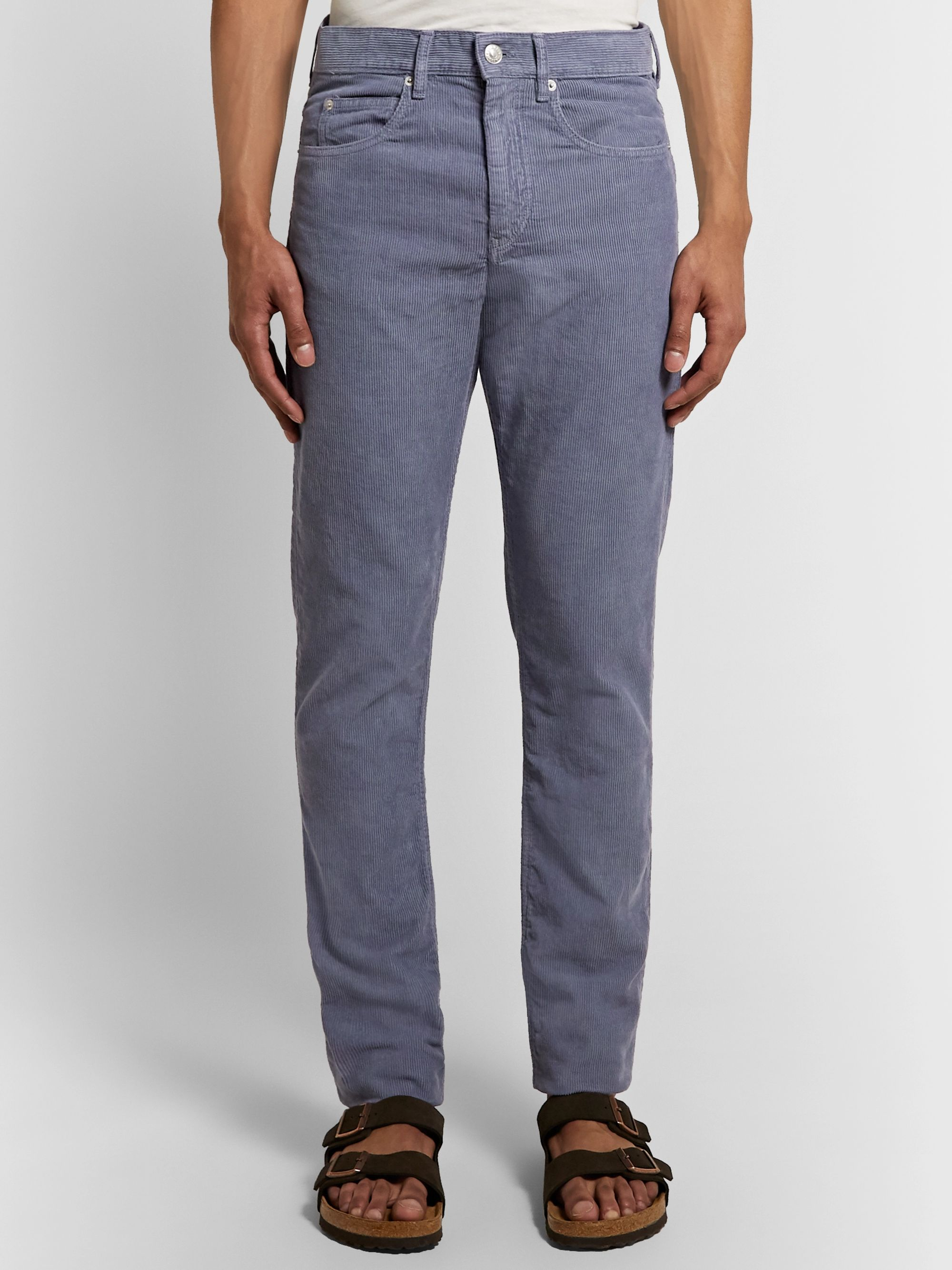 Isabel Marant Jack Slim-Fit Cotton-Corduroy Trousers