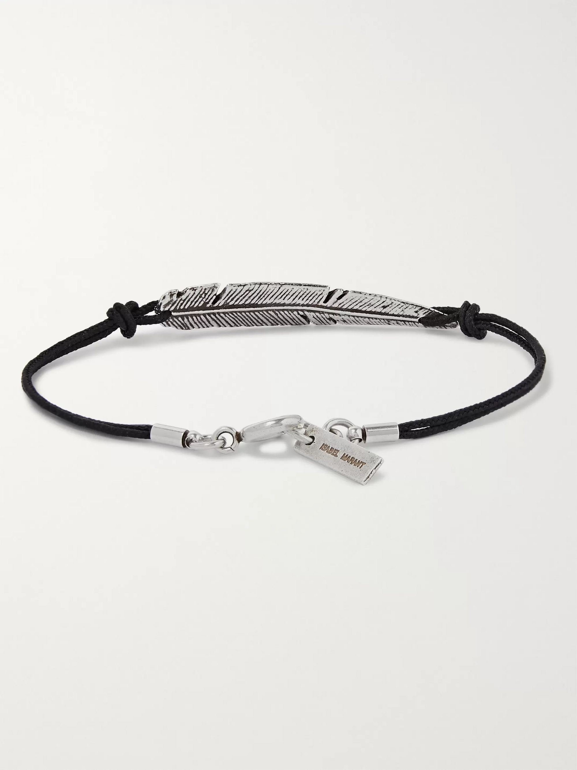 Isabel Marant Feather Cord and Silver-Tone Bracelet