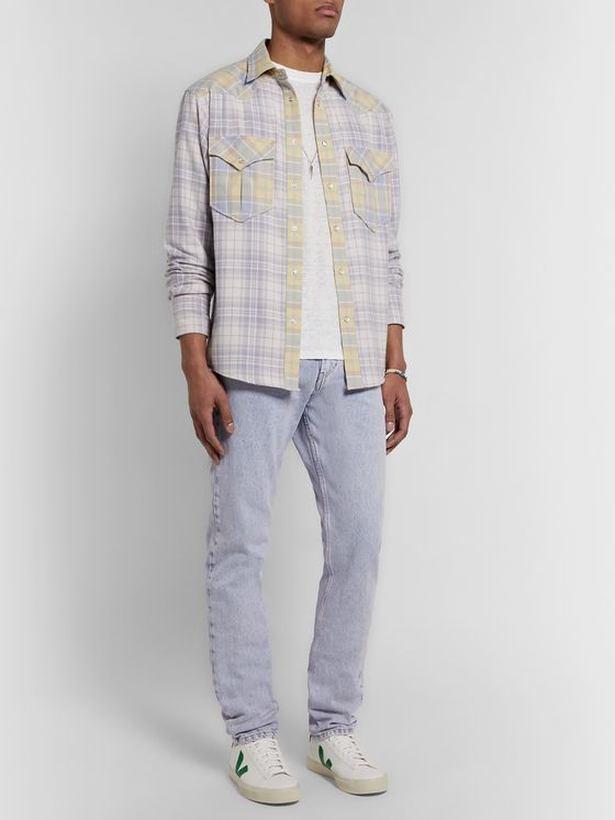 Isabel Marant Yilly Checked Cotton-Flannel Shirt
