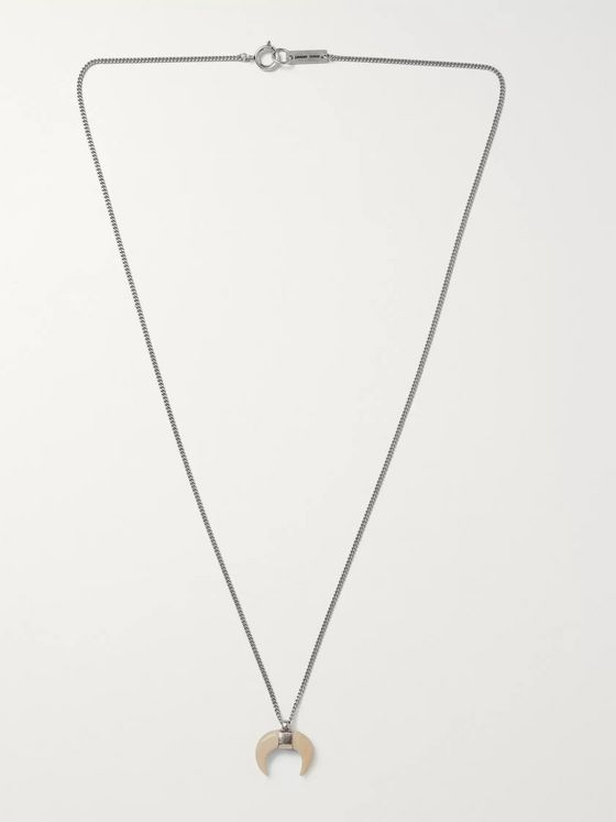 Isabel Marant Sautoir Horn and Silver-Tone Necklace