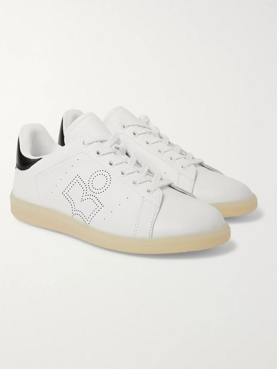 Isabel Marant Brevka Logo-Perforated Leather Sneakers