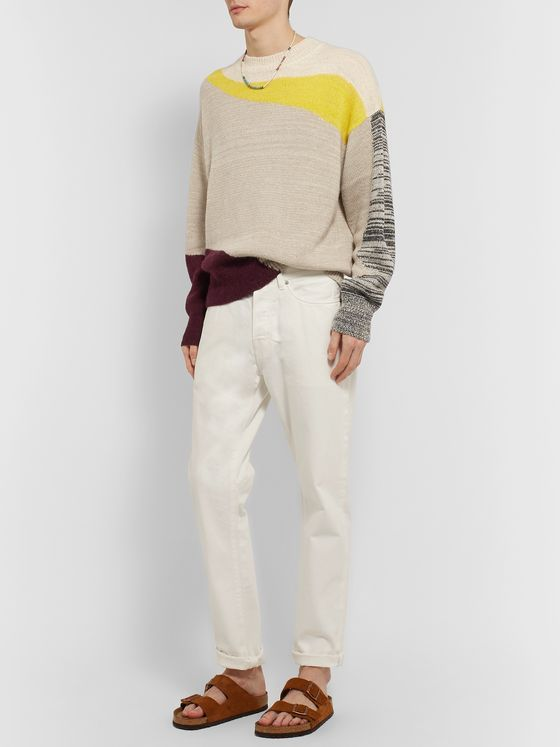 Isabel Marant Gally Colour-Block Alpaca-Blend Sweater