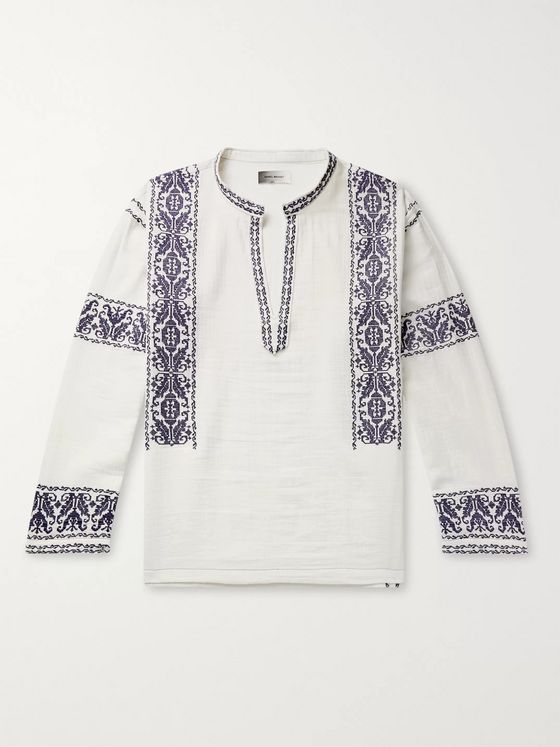 Isabel Marant Piperi Embroidered Cotton Shirt