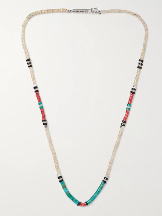 Isabel Marant Silver-Tone Beaded Necklace