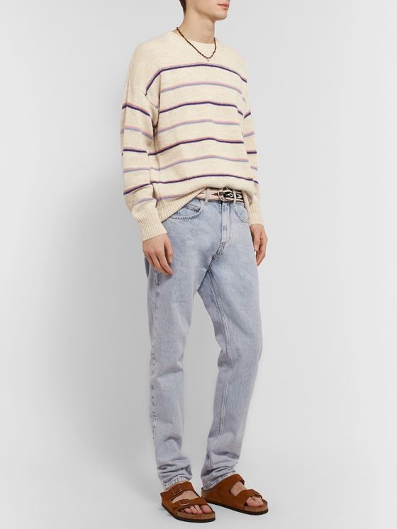 Isabel Marant Obli Striped Alpaca-Blend Sweater