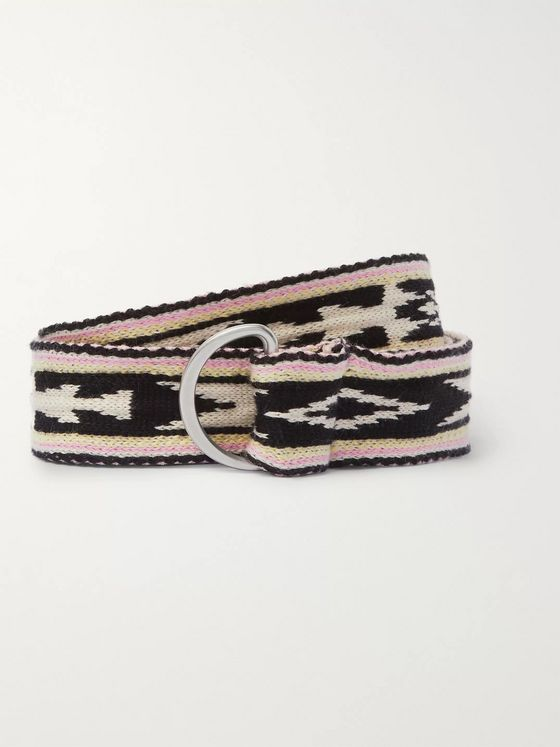 Isabel Marant Balknit 4cm Intarsia Cotton Belt
