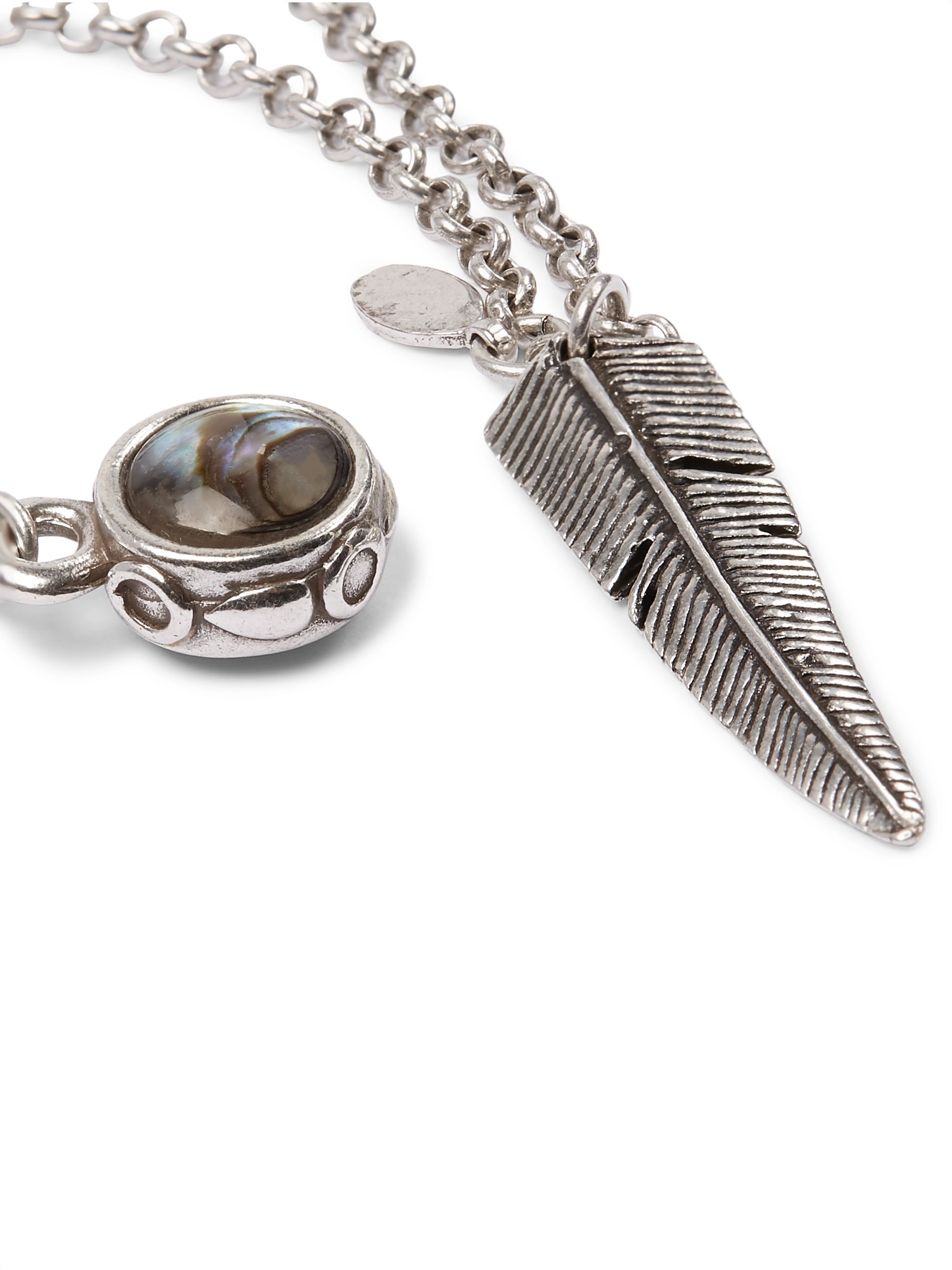 Isabel Marant Silver-Tone Shell Necklace