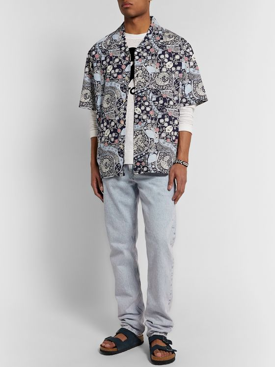 Isabel Marant Lazlo Oversized Camp-Collar Printed Cotton Shirt