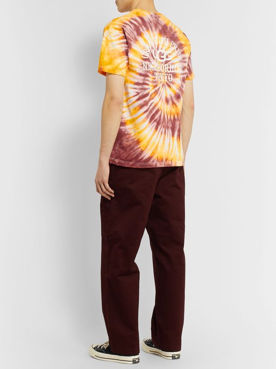 Neighborhood + UGG Tie-Dye Cotton-Jersey T-Shirt