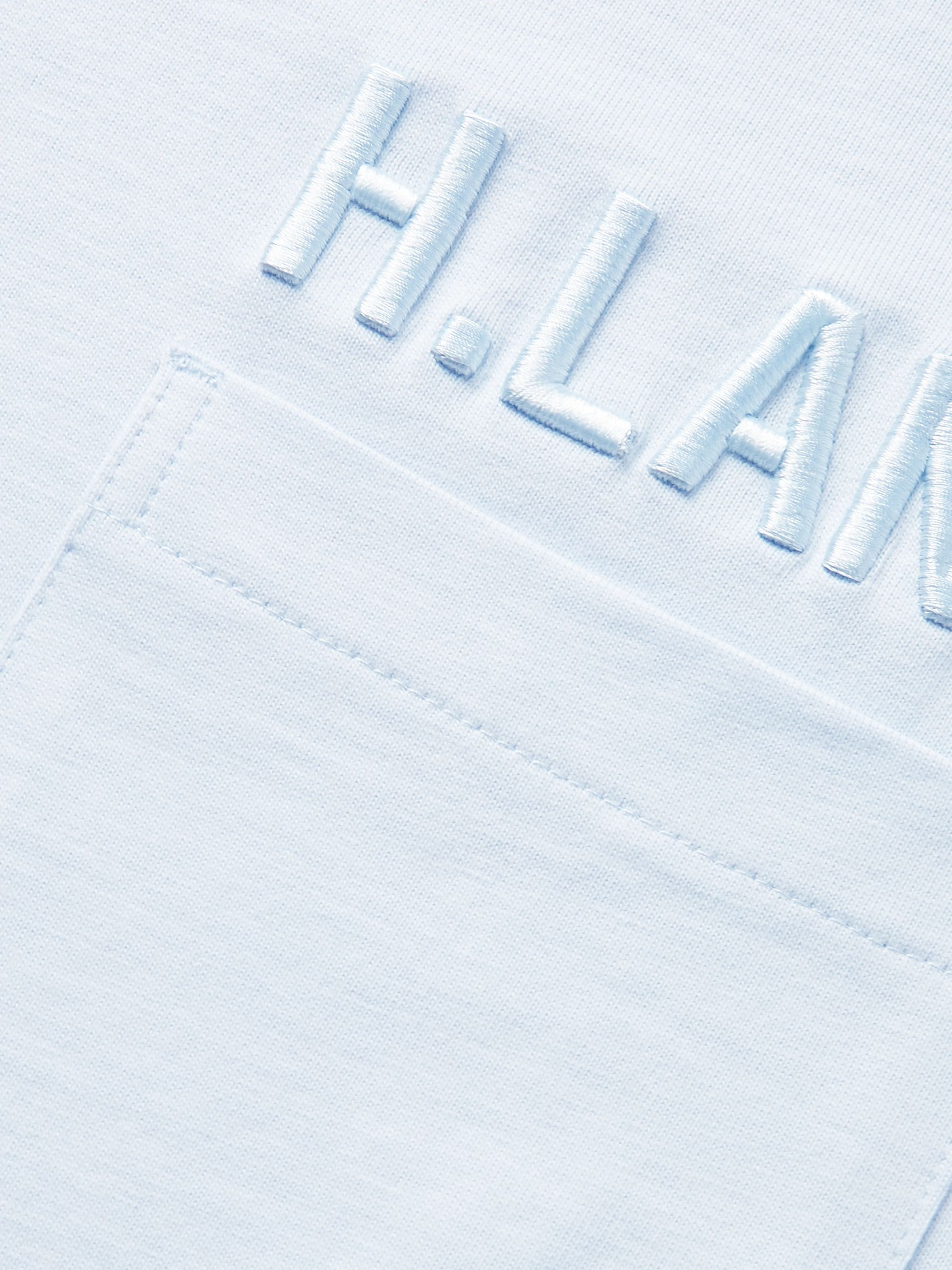 Helmut Lang Logo-Embroidered Cotton-Jersey T-Shirt