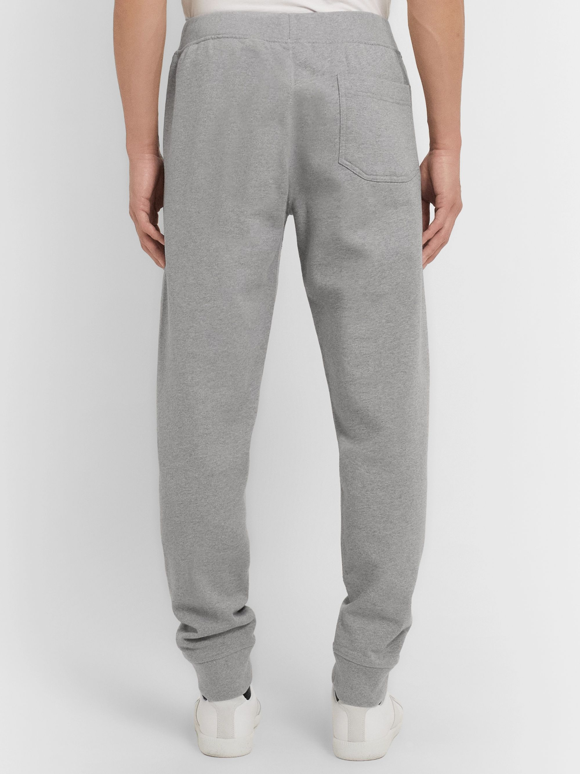 Helmut Lang Tapered Logo-Print Loopback Cotton-Jersey Sweatpants