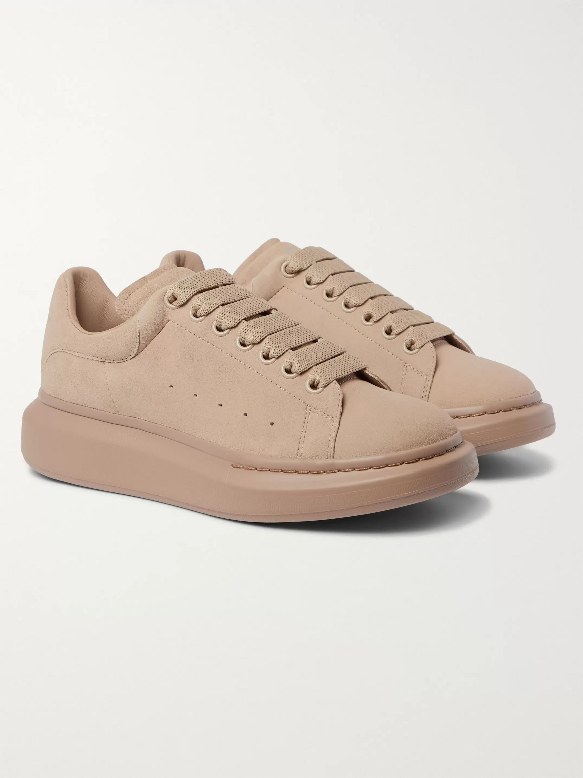 Neutral Exaggerated-Sole Suede Sneakers | Alexander McQueen | MR PORTER