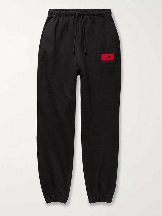 424 Logo-Embroidered Fleece-Back Cotton-Jersey Sweatpants