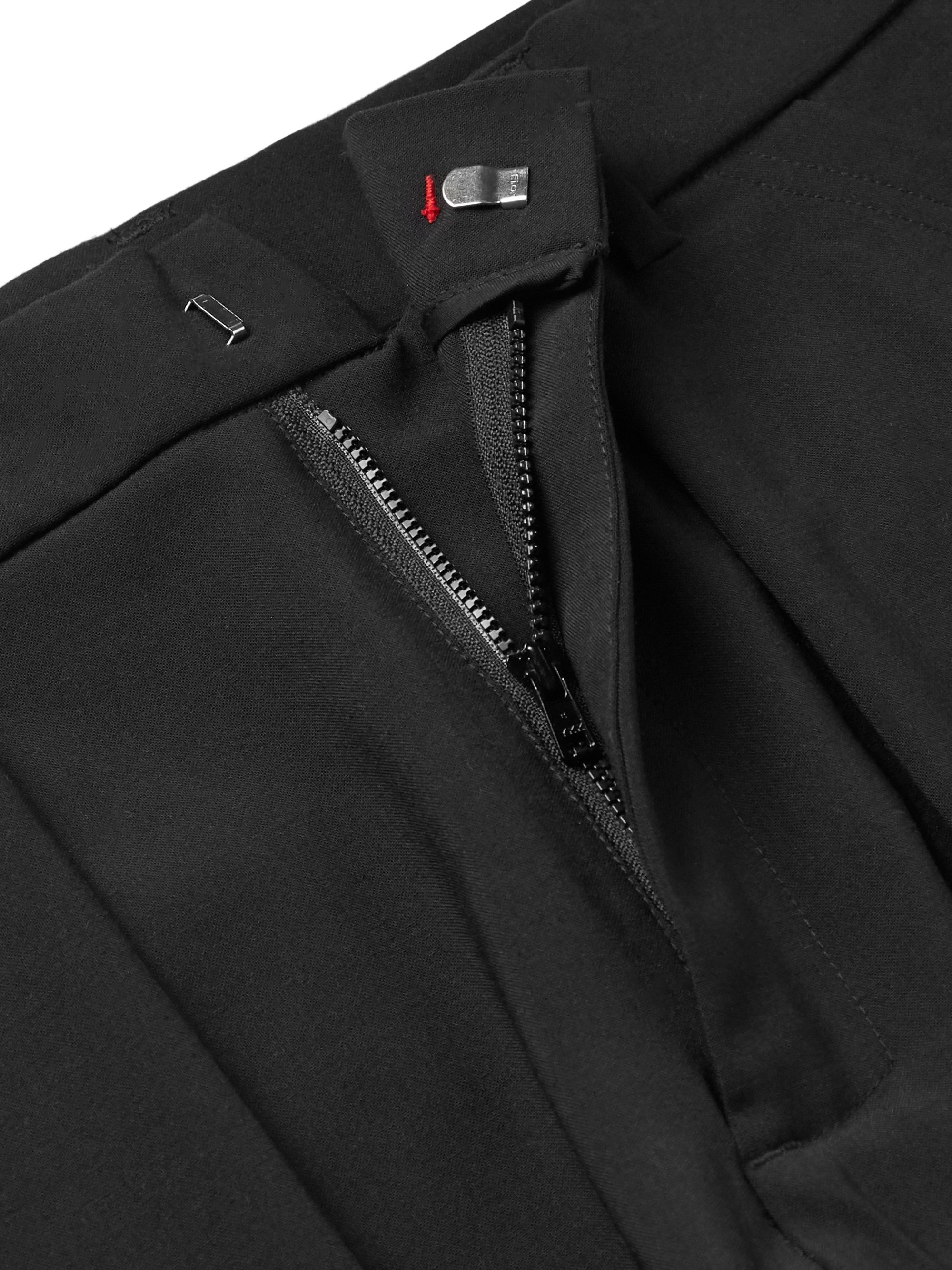 424 Black Slim-Fit Woven Cargo Trousers