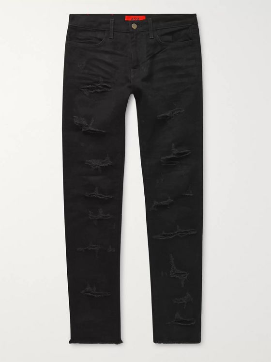 424 Skinny-Fit Distressed Denim Jeans