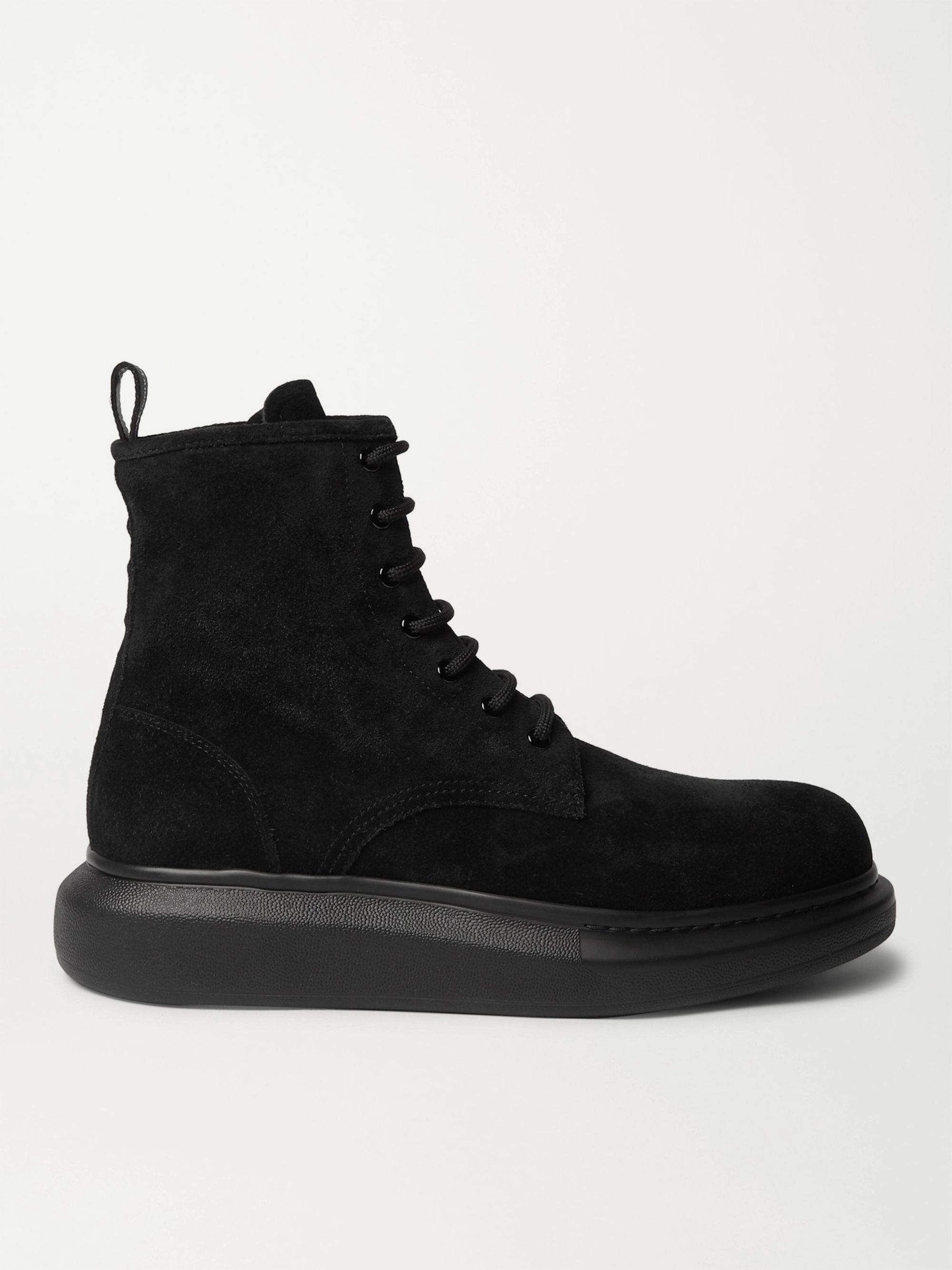 Alexander McQueen Exaggerated-Sole Suede Boots