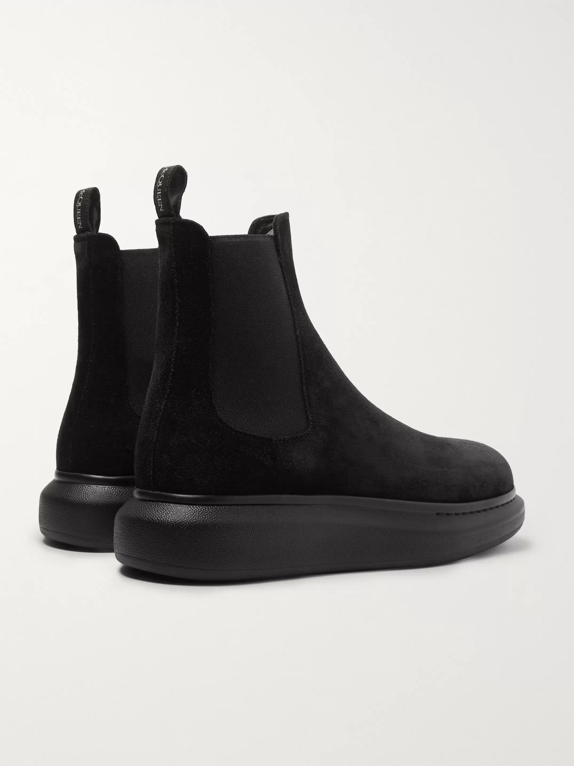 ALEXANDER MCQUEEN Exaggerated-Sole Suede Chelsea Boots