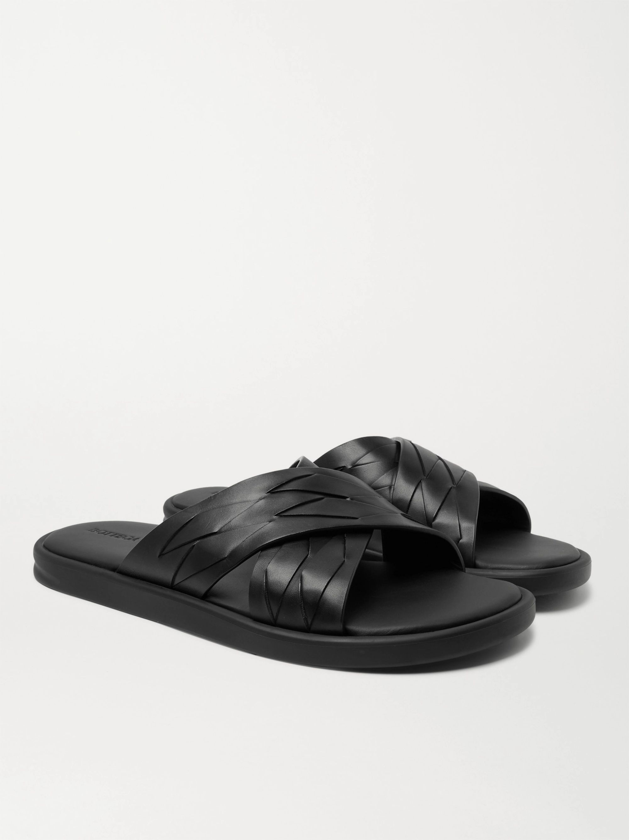 Bottega Veneta Woven Leather Sandals