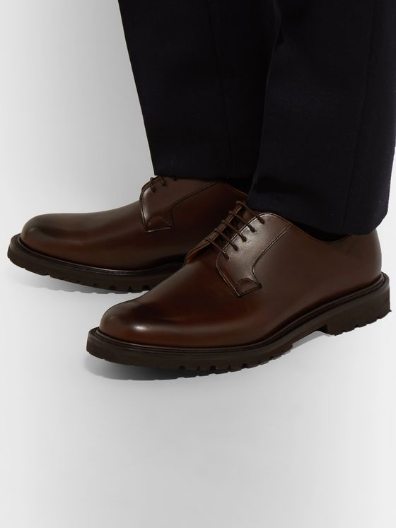 Cheaney Covent Burnished-Leather Derby Shoes