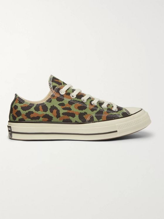Converse + Wacko Maria Invincible Leopard-Print Canvas Sneakers