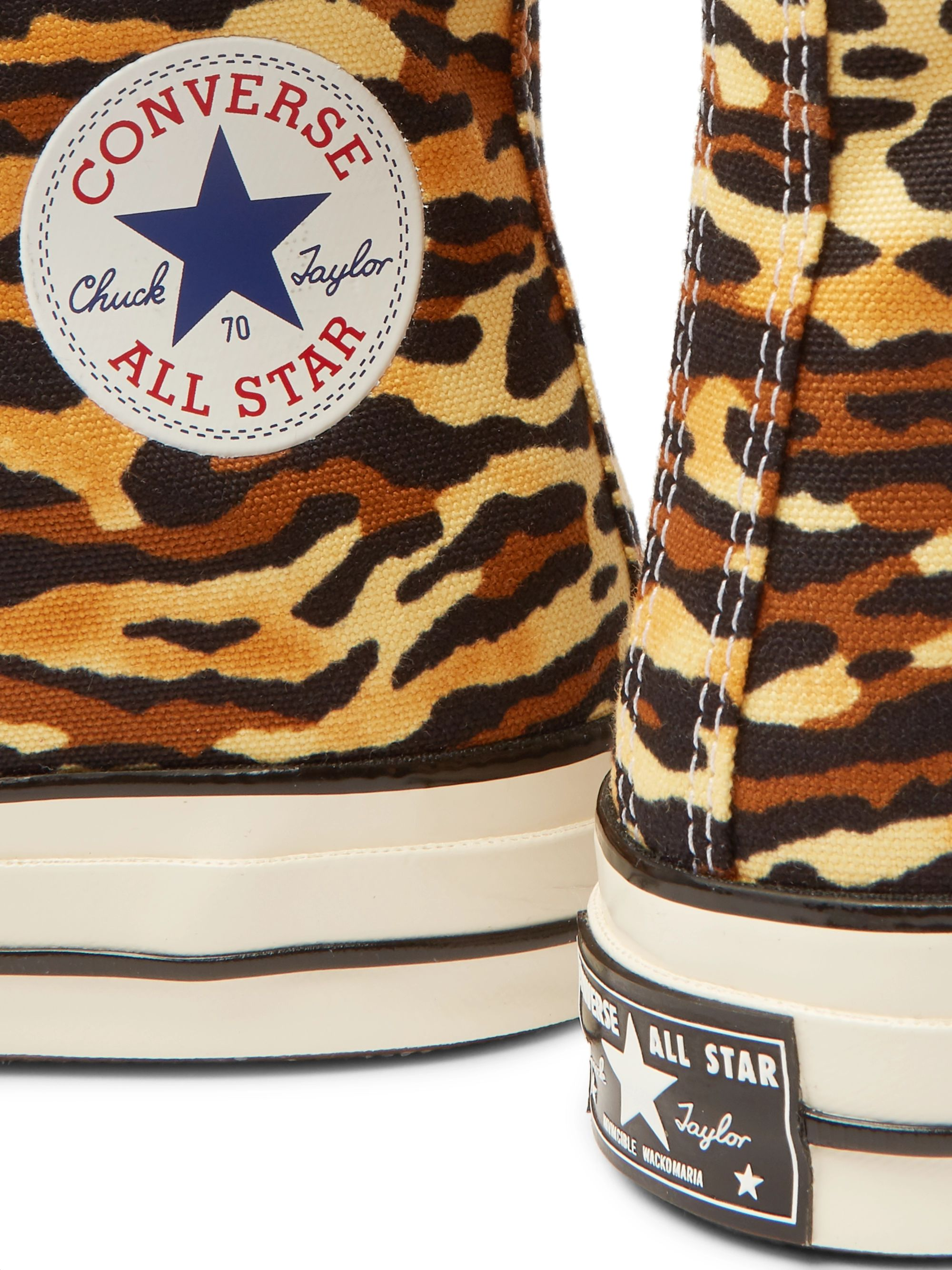 Converse + Wacko Maria Invincible Chuck 70 Leopard-Print Canvas High-Top Sneakers
