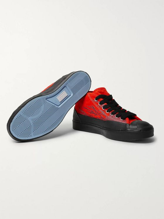 distressed converse Jack Purcell Red Converse Jack Purcell