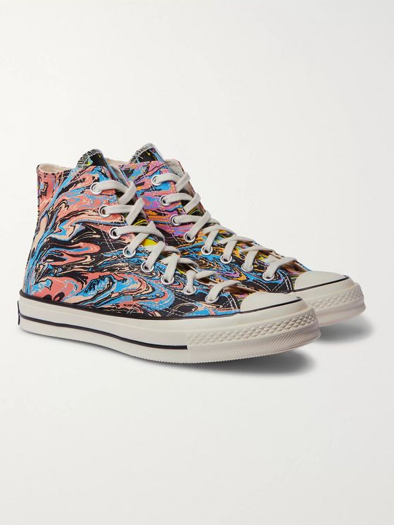 Converse Chuck 70 Marbled Canvas High-Top Sneakers