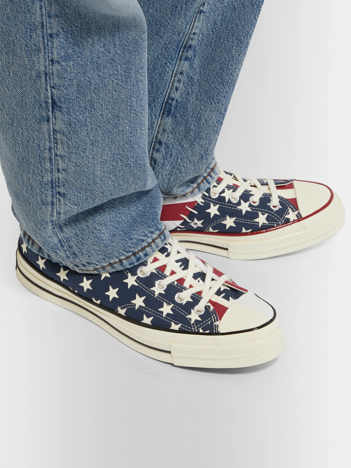 Converse Sneakers CHUCK 70 ARCHIVE RESTRUCTURED PRINTED ORGANIC CANVAS HIGH-TOP SNEAKERS