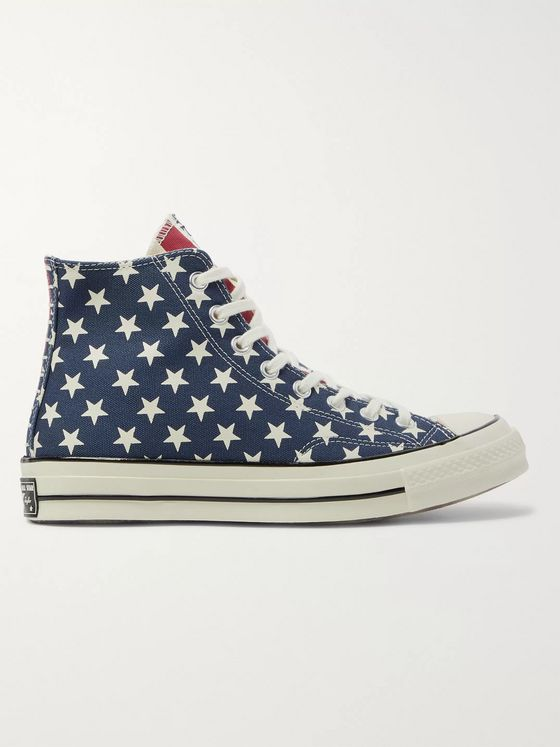 CONVERSE Chuck 70 Archive Restructured Printed Organic Canvas High-Top Sneakers