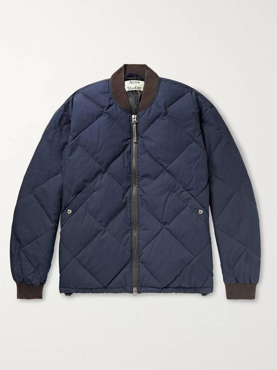 Acne Studios Osor Quilted Cotton Down Bomber Jacket