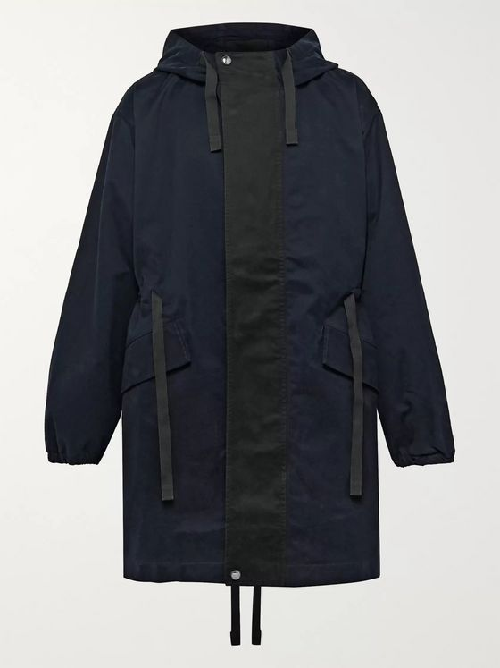 Acne Studios Colour-Block Cotton-Twill Hooded Parka