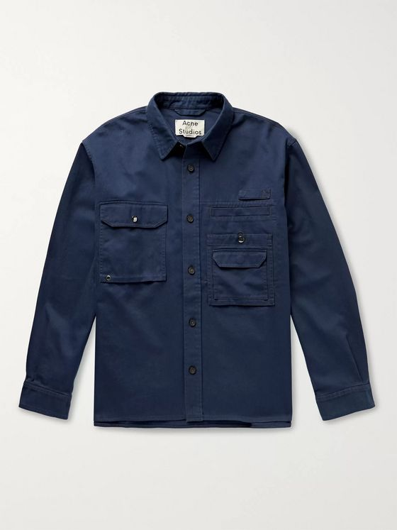 Acne Studios Orallo Cotton-Twill Shirt Jacket