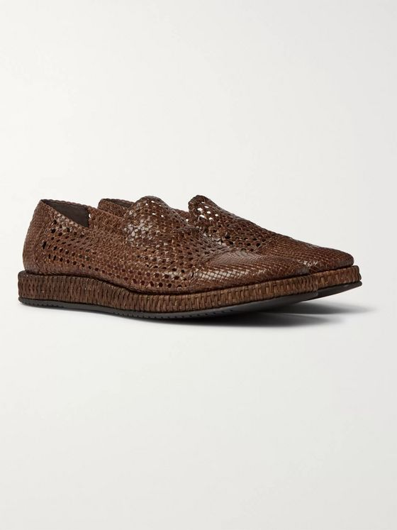 DOLCE & GABBANA Woven Leather Loafers