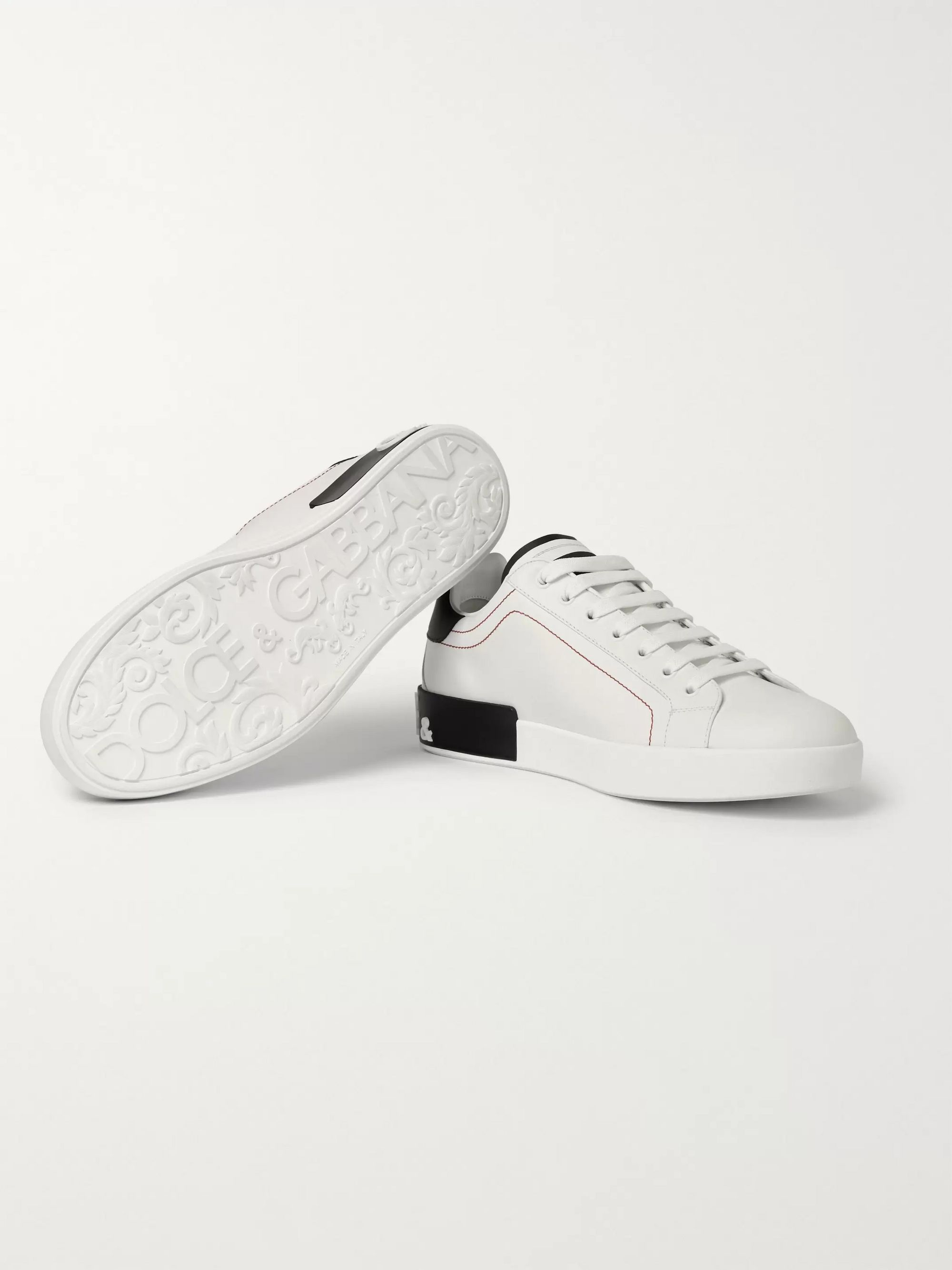 Dolce & Gabbana Portofino Logo-Detailed Leather Sneakers