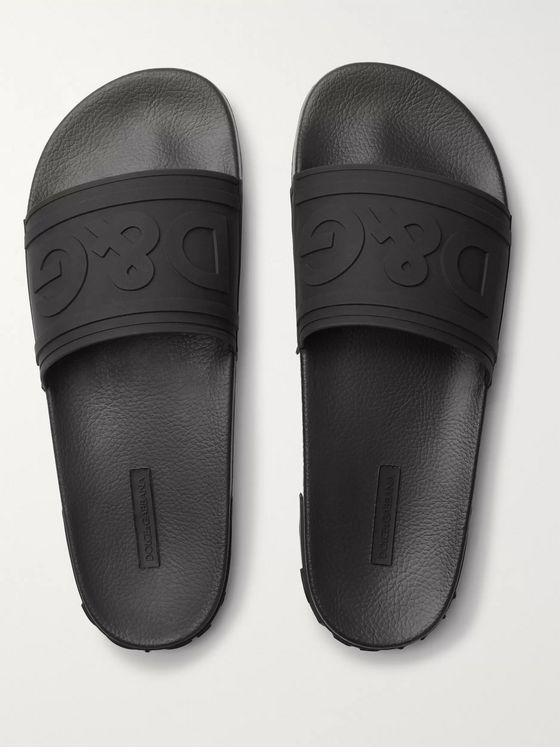 Dolce & Gabbana Logo-Detailed Rubber Slides