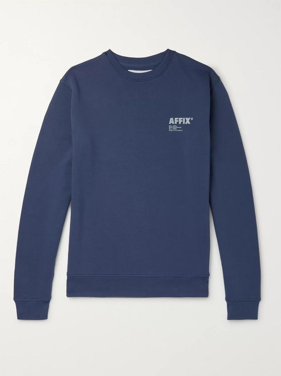 AFFIX Logo-Appliquéd Fleece-Back Cotton-Jersey Sweatshirt