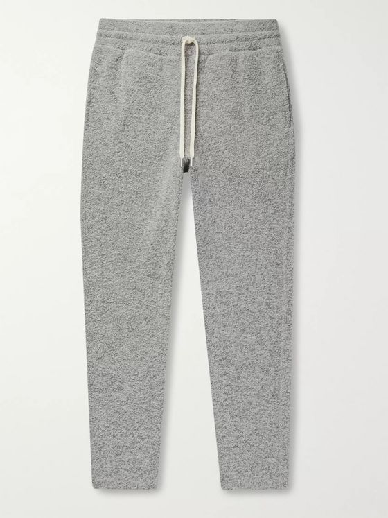 John Elliott Ebisu Slim-Fit Tapered Bouclé Sweatpants