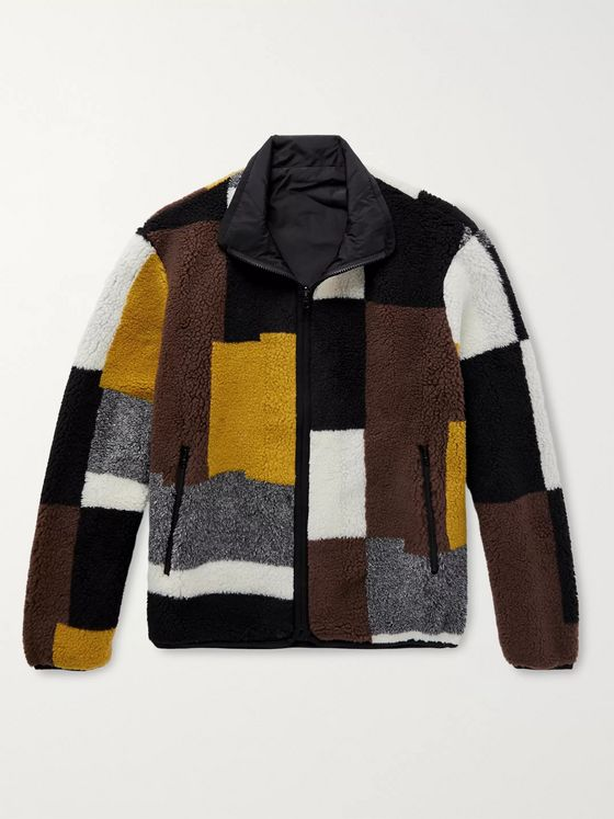 John Elliott Nashville Reversible Colour-Block Polar Fleece Jacket