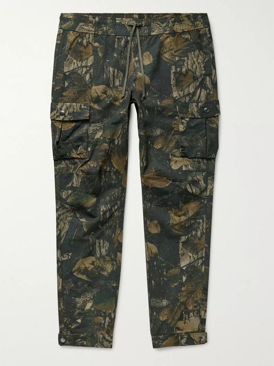 John Elliott Panorama Slim-Fit Camouflage-Print Cotton-Ripstop Cargo Trousers