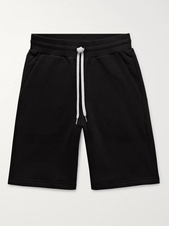 John Elliott Crimson Loopback Cotton-Jersey Drawstring Shorts