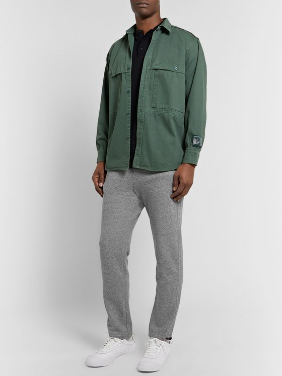 John Elliott Sochi Slim-Fit Tapered Mélange Loopback Cotton-Jersey Sweatpants