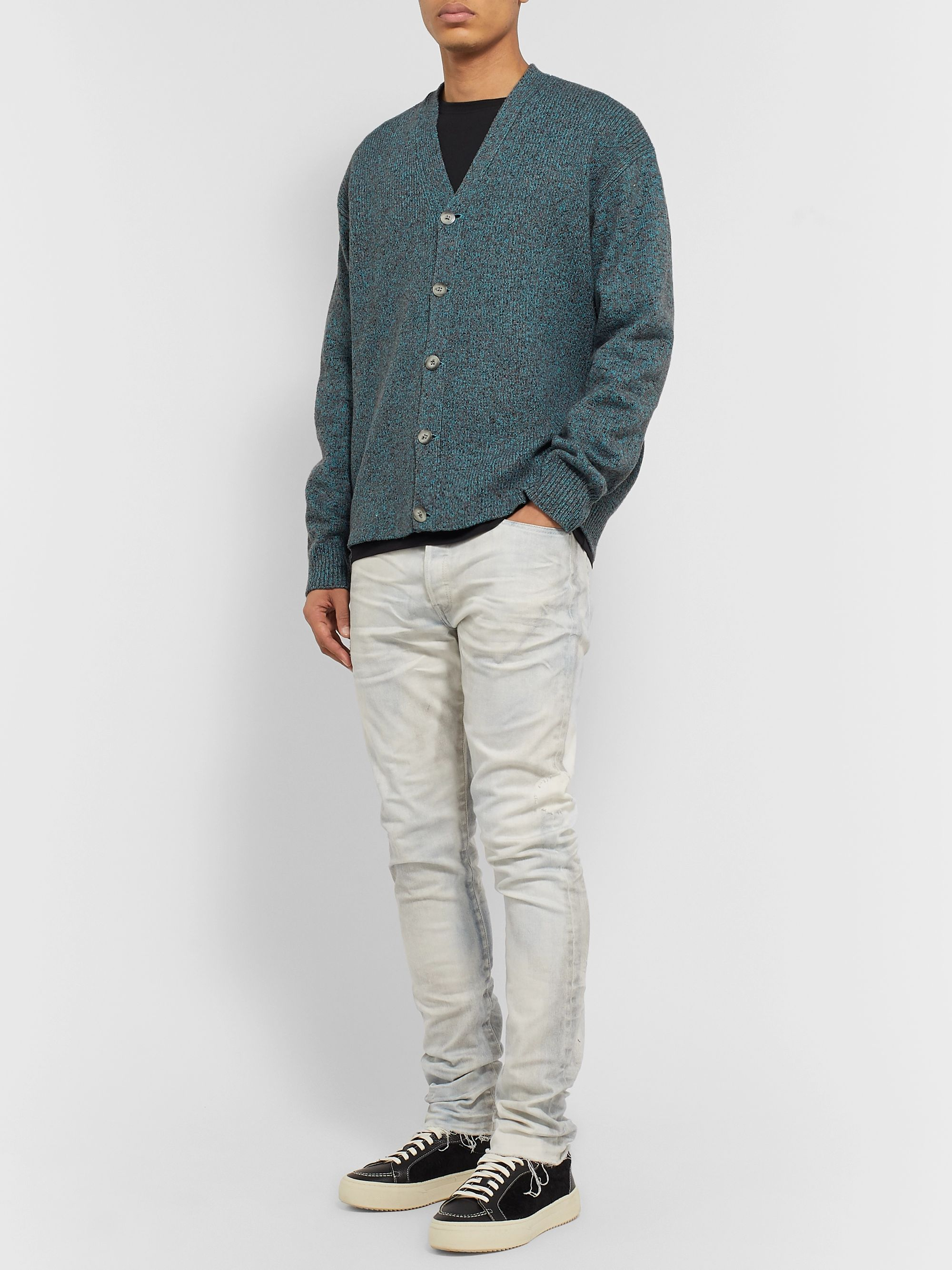 John Elliott Bavel Donegal Knitted Cardigan