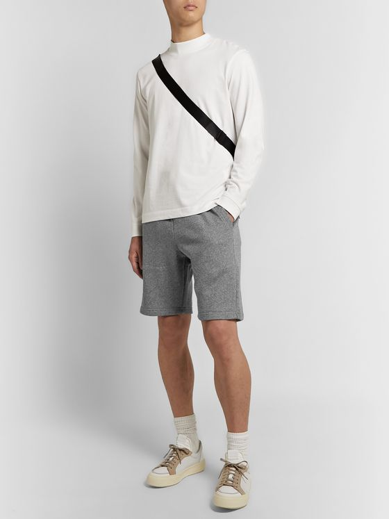John Elliott Crimson Mélange Loopback Cotton-Jersey Drawstring Shorts