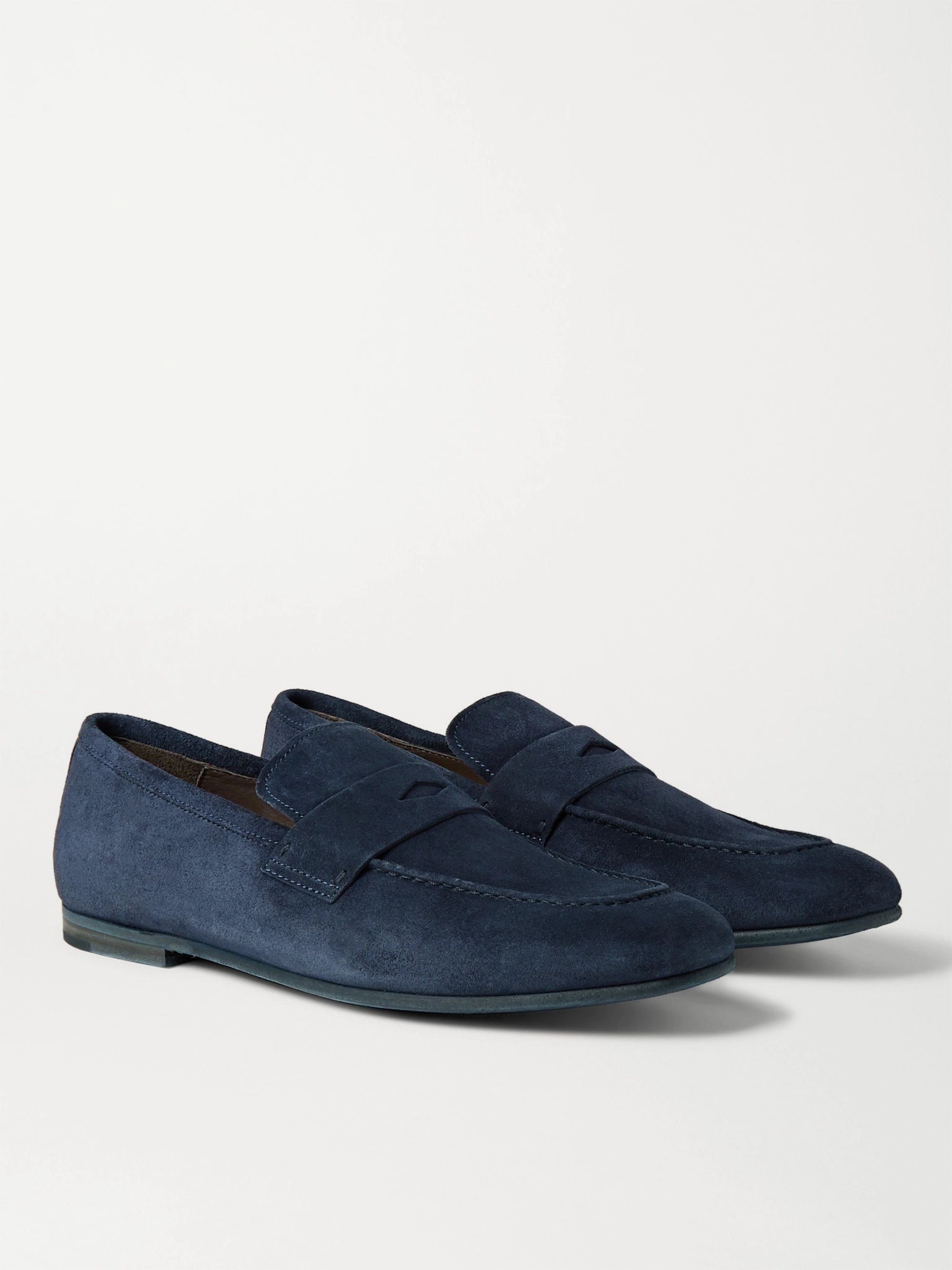 DUNHILL Chiltern Suede Penny Loafers