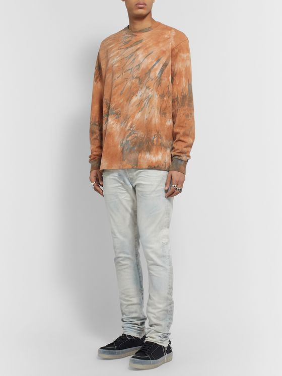 John Elliott University Tie-Dye Cotton-Jersey T-Shirt