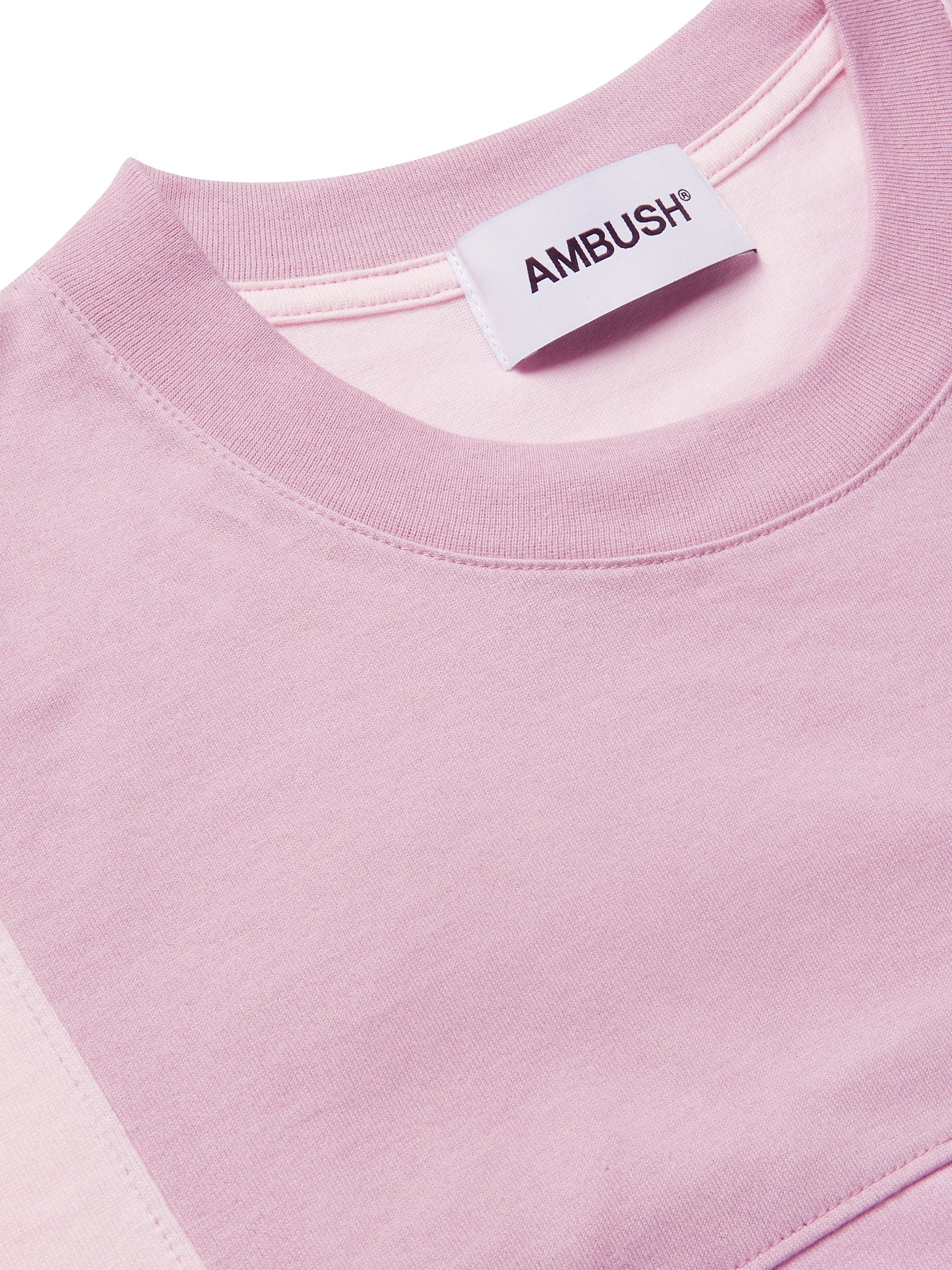AMBUSH® Logo-Embroidered Patchwork Cotton-Jersey T-Shirt